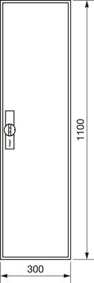 Hager Zählerschrank,universZ 1100x300x160,IP44 ZB31ES