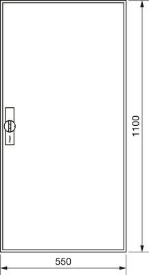 Hager Zählerschrank,universZ 1100x550x160,IP44 ZB32ES