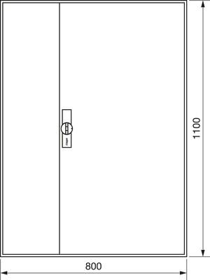 Hager Zählerschrank,universZ 1100x800x205,IP44 ZB33S