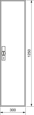 Hager Zählerschrank,universZ 1250x300x205,IP44 ZB41S