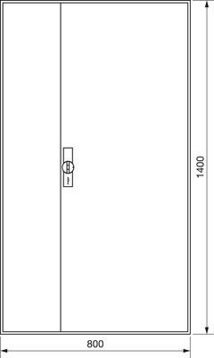 Hager Zählerschrank,universZ 1400x800x205,IP44 ZB53S