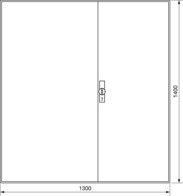 Hager Zählerschrank,universZ 1400x1300x205,IP44 ZB55S