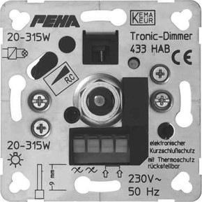 Peha Phasenabschnittdimmer 20-250W D 433 HAB-60 O.A.