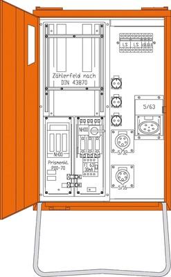 Walther Werke Anschlussverteiler 44kVA 1 Zählerpl.(B) WAV0160B