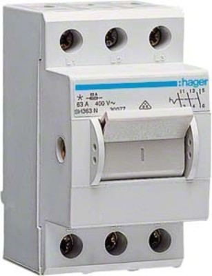 Hager Ausschalter 63A,3-pol,2.5PLE SH363N