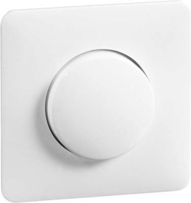 Peha Abdeckung mit Knopf reinweiß für Drehdimmer D 80.610.02 V HR