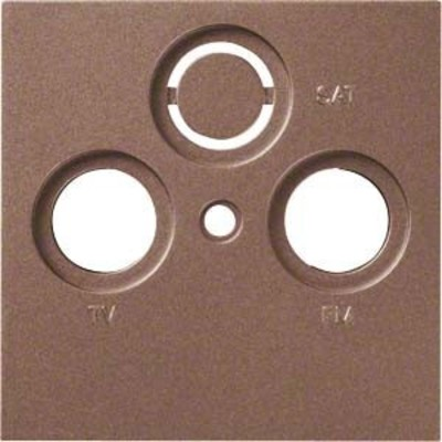Hager Abdeckung bronze f.Antennendose 2/3f. WYA208