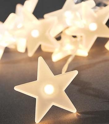 Gnosjö Konstsmide WB LED Dekolichterkette 10 gefr. Sterne 1405-133
