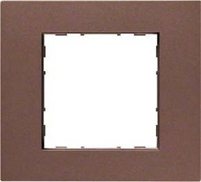 Hager Rahmen 1-f. bronze WYR518