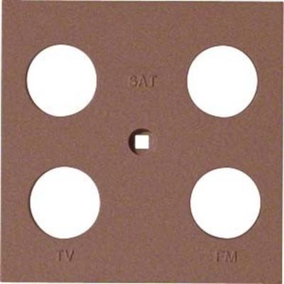 Hager Abdeckung Antenne 4-fach ch sym. bronze WYA248