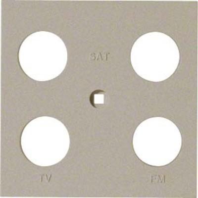 Hager Abdeckung Antenne 4-fach ch sym. champ. WYA249
