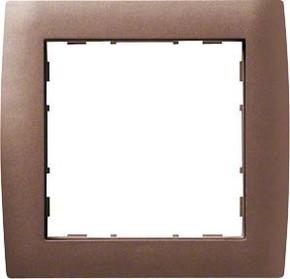 Hager Rahmen 1-f. bronze WYR218