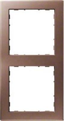 Hager Rahmen 2-f. bronze WYR128