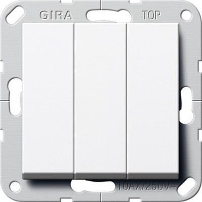 Gira Wippschalter Wechsel 3-fach ch System 55 Reinweiß 283203