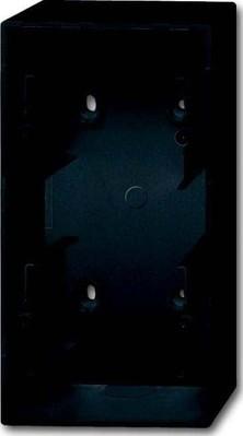 Busch-Jaeger Aufputz-Gehäuse 2-fach ch, schwarz matt 1702-885