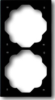 Busch-Jaeger Rahmen 2-fach schwarz matt, impuls 1722-775