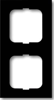 Busch-Jaeger Rahmen 2-fach schwarz matt, f.lin. 1722-885K