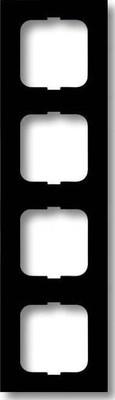 Busch-Jaeger Rahmen 4-fach schwarz matt, f.lin. 1724-885K