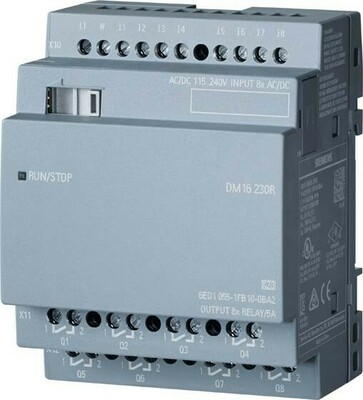 Siemens Indus.Sector LOGO!8 DM16 230R Erw.modul 4TE, 8DE/8DA 6ED1055-1FB10-0BA2