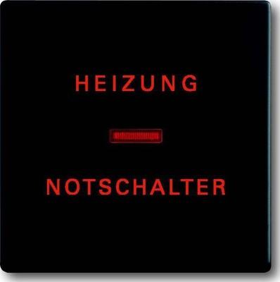Busch-Jaeger Wippe schwarz mt Heizung-Notschalter 1789 H-885