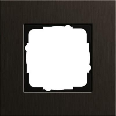 Gira Abdeckrahmen 1-fach aluminium braun 0211127