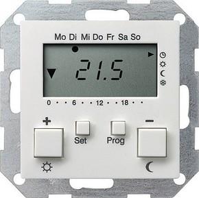 Gira RT-Regler 230 V mit Uhr reinweiß 237003