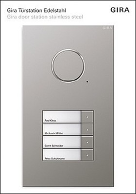 Gira Display Türstation edelstahl Audio 4-fach 1676110