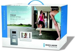 Busch-Jaeger Zweifamilienhaus-Set Video sws matt/eds 83022/2
