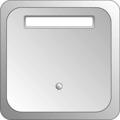 Elso Tastfläche 1-fach ch Leuchtmark./SF grau ELG203301