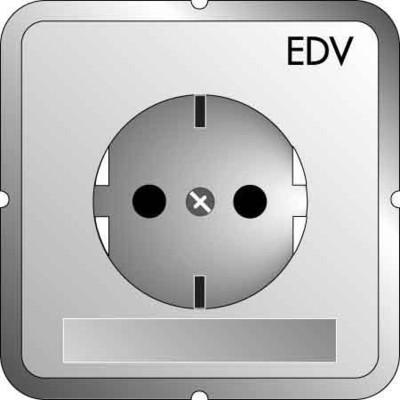 Elso Steckdoseneinsatz EDV m.Schriftfeld, rot ELG205119