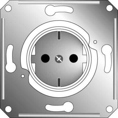 Elso Steckdoseneinsatz f.Zentralplatte, rot ELG235019
