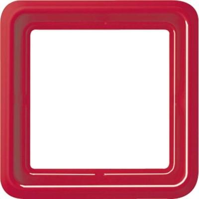 Jung Rahmen 1-fach rot bruchsi.,waage/senkr CD 581 WU RT