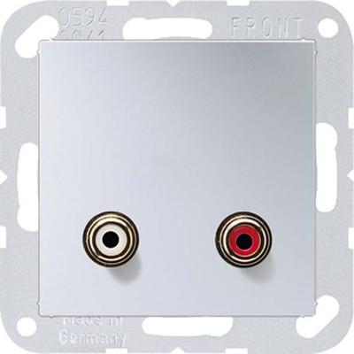 Jung Multimedia-Anschluss aluminium Cinch/Miniklinke3,5 MA A 1021 AL