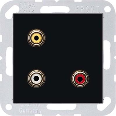 Jung Multimedia-Anschluss schwarz Cinch/CompositeVideo MA A 1031 SW