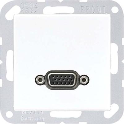 Jung Multimedia-Anschluss weiß VGA m.Tragring MA A 1102