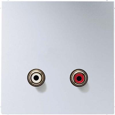 Jung Multimedia-Anschluss aluminium Cinch Audio/Tragring MA AL 1021