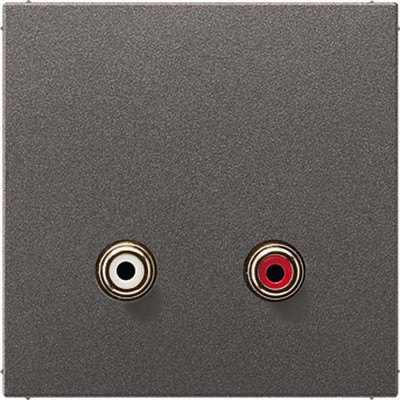 Jung Multimedia-Anschluss anthrazit Cinch Audio/Tragring MA AL 1021 AN