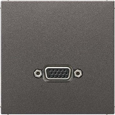 Jung Multimedia-Anschluss anthrazit VGA m.Tragring MA AL 1102 AN