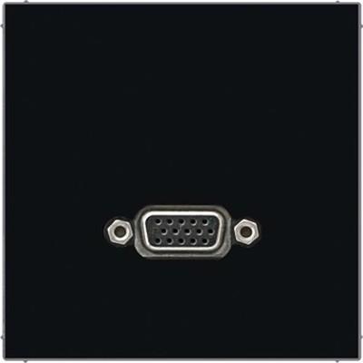 Jung Multimedia-Anschluss schwarz VGA m.Tragring MA LS 1102 SW