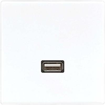 Jung Multimedia-Anschluss weiß USB m.Tragring MA LS 1122