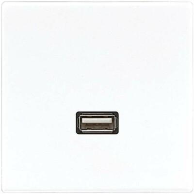Jung Multimedia-Anschluss alpinweiß USB m.Tragring MA LS 1122 WW