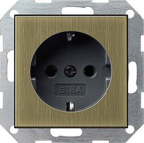 Gira SCHUKO-Steckdose ohne Kralle brz/anth 0466603