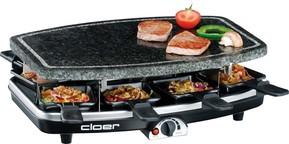 Cloer Raclette-Grill 8 Pfän.,Naturstein 6430