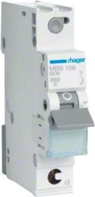 Hager Leitungsschutzschalter 1p. B-6A,6kA,1M QC MBS106