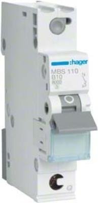 Hager Leitungsschutzschalter 1p. B-10A,6kA,1M QC MBS110