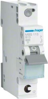 Hager Leitungsschutzschalter 1p. B-13A,6kA,1M QC MBS113