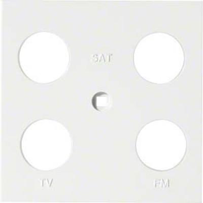Hager Abdeckung Antenne 4-fach ch sym. brillws WYA240