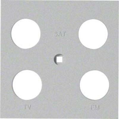 Hager Abdeckung Antenne 4-fach ch sym. silber WYA246