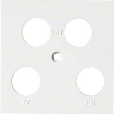 Hager Abdeckung Antenne 4-fach ch asym. brillws WYA270