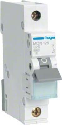 Hager Leitungsschutzschalter 1pol. C-25A, 6kA MCN125